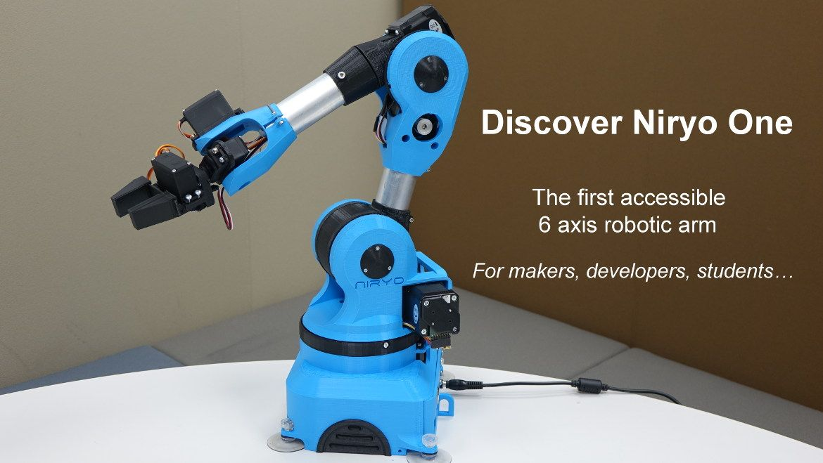 niryo one - 6 axis robotic arm for makers developers and students